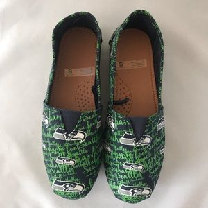 Seahawks Women's Canvas Slip On Shoes
